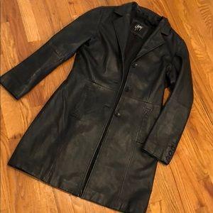 Gipsy Leather Jacket Long Sz Medium